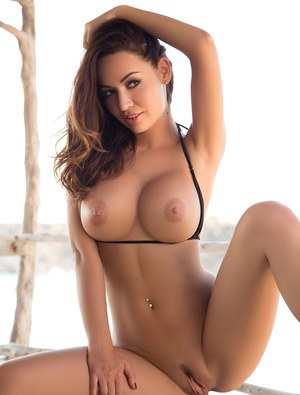 topless hot lady in