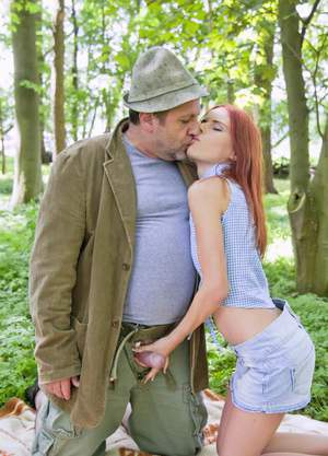 Young hot girl fucking a older guy in role play 8